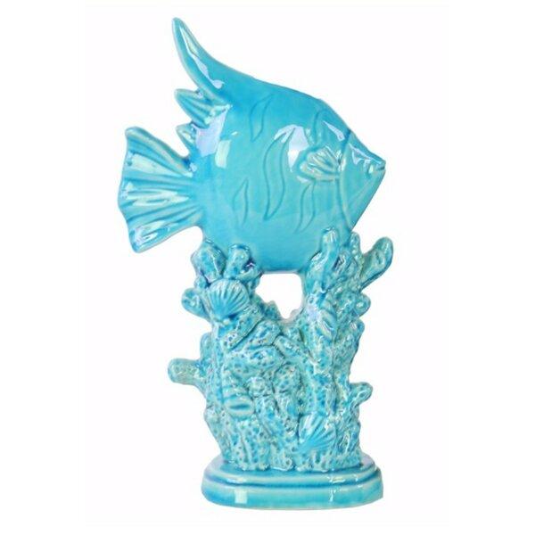 Stillman Angelfish on Coral Pedestal Figurine by Bay Isle Home