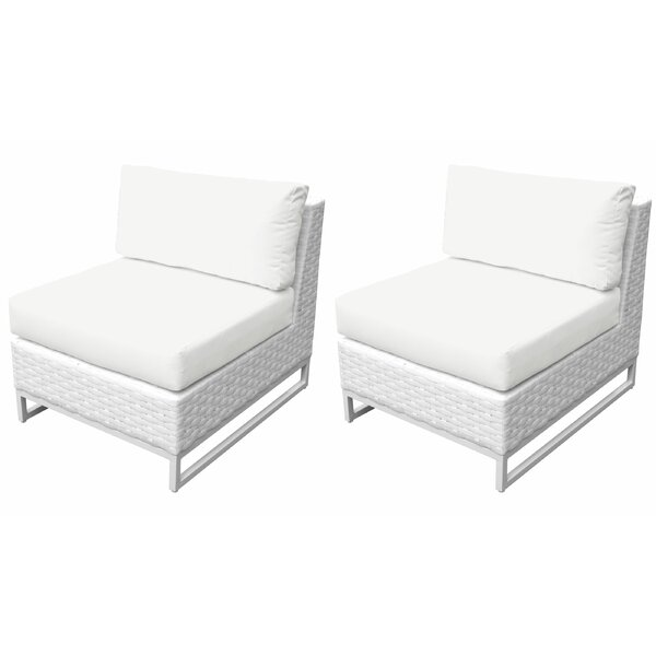 Miami Patio Chair with Cushions (Set of 2) by TK Classics