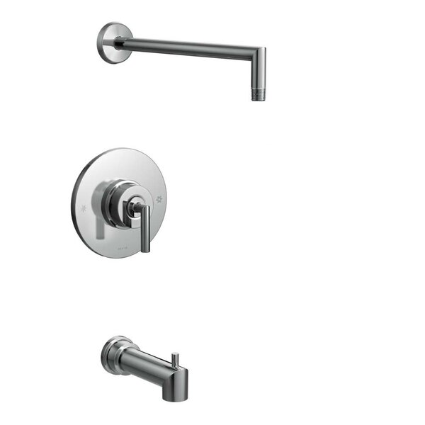 Arris Pressure Balance Tub and Shower Faucet with Lever Handle by Moen