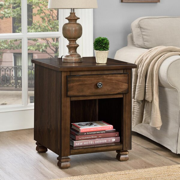 Colman End Table With Storage by Winston Porter
