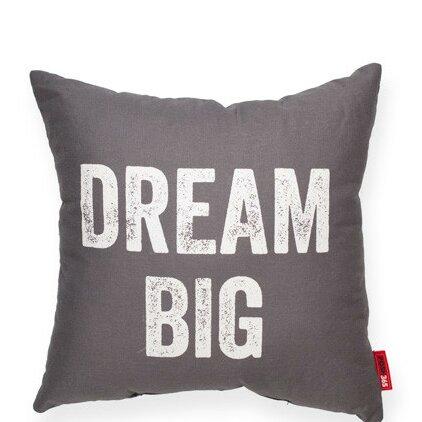 Expressive Dream Big Linen Throw Pillow by Posh365