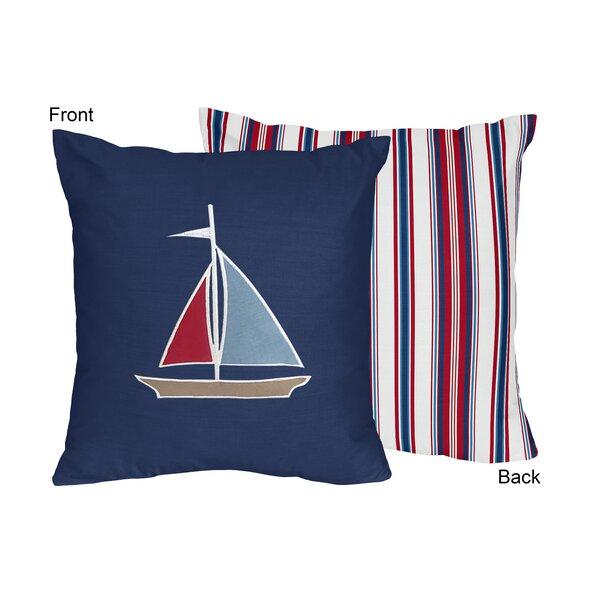 Nautical Nights Cotton Throw Pillow by Sweet Jojo Designs