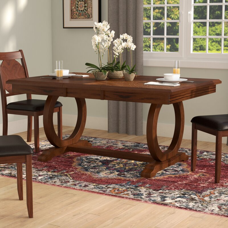 World menagerie kapoor extendable dining table reviews for Dining room tables used