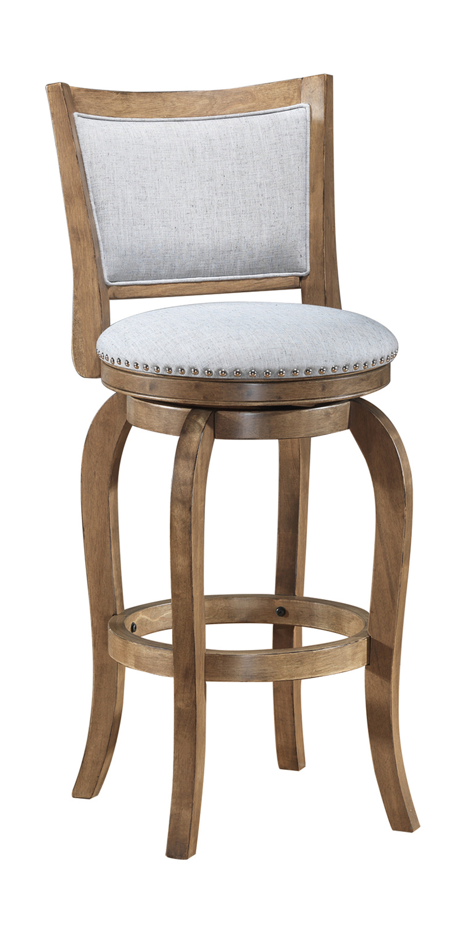 Prevost Wooden Swivel Bar Stool