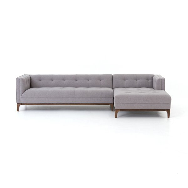 Doutzen 2 Pc Sectional with Right Hand Facing Chaise by Brayden Studio