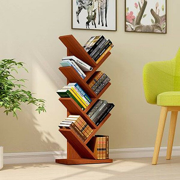 Tewksbury 3 Tier Shelf Display Ladder Bookcase by Ebern Designs
