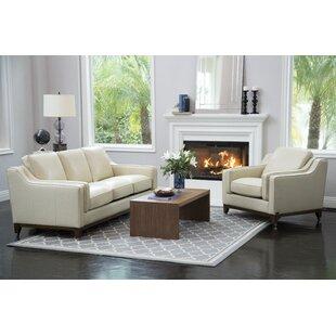 Affordable Price Jacob 2 Piece Leather Living Room Set ByBrayden Studio