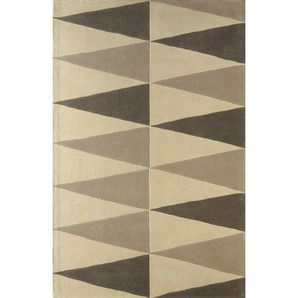 Hisle Hand-Tufted Soot/Ivory Area Rug by Brayden Studio