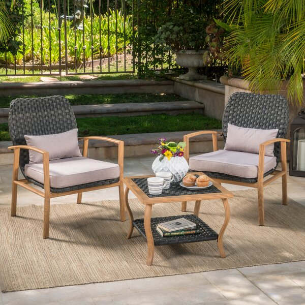 Drago 3 Piece Conversation Set with Cushions by Ivy Bronx