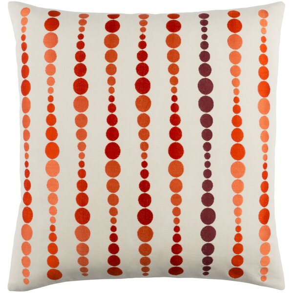Flying Colors Dewdrop Cotton Throw Pillow by emma at home by Emma Gardner