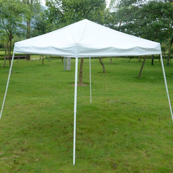 Slant Leg 10 Ft. x 10 Ft. Steel Pop-Up Canopy by Outsunny