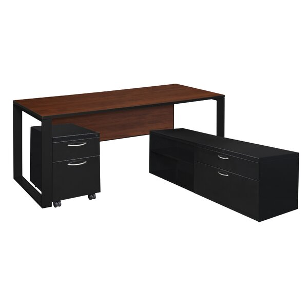 Mireya L-Shape Executive Desk by Ebern Designs
