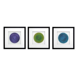 Circles Framed Graphic Art (Set of 3) by PTM