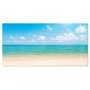 'Wide View of Tropical Beach' Photographic Print on Wrapped Canvas by Design Art