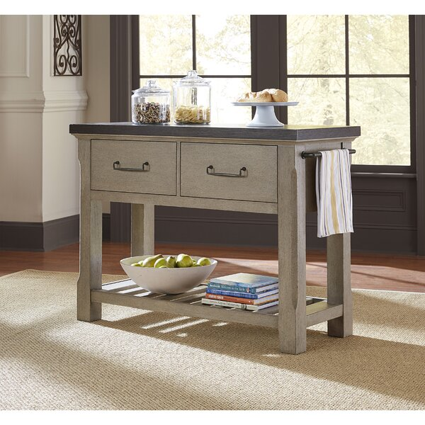 Skipton 2 Drawer Kitchen Island by Gracie Oaks