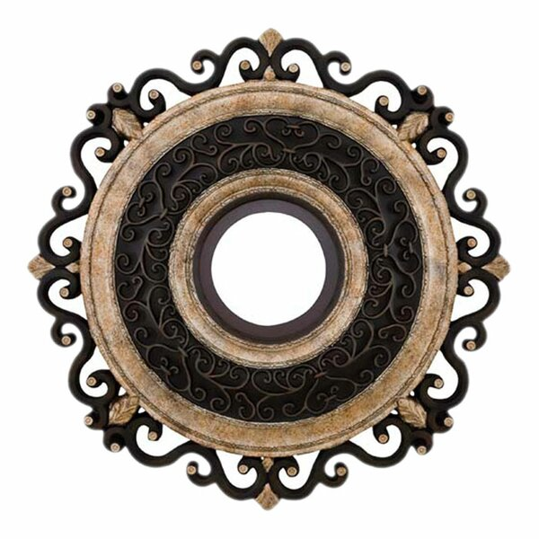 Napoli 22 Ceiling Medallion in Sterling Walnut by Minka Aire