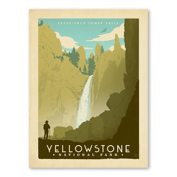 National Park Yellowstone 02 Vintage Advertisement by Americanflat