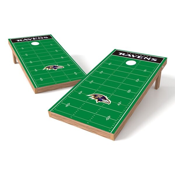 NFL Football Field Cornhole Game Set by Tailgate Toss