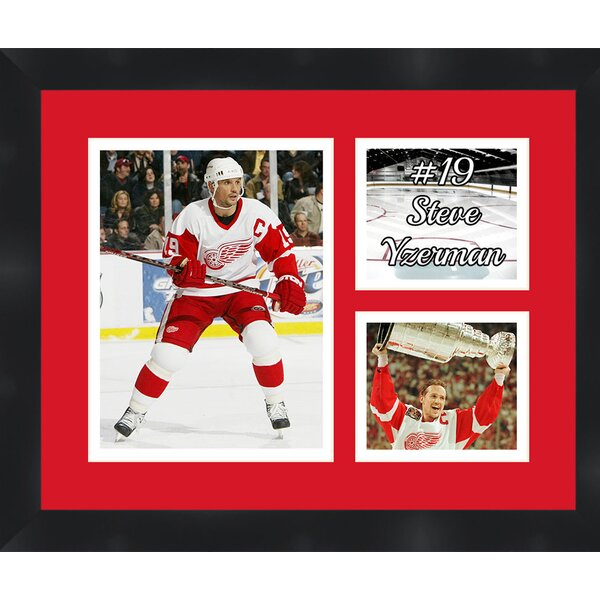 Steve Yzerman 19 Detroit Red Wings Photo Collage Picture Frame by Frames By Mail