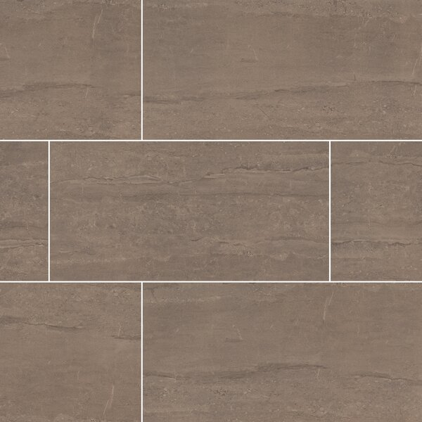 Pietra Dunes 12 x 24 Porcelain Field Tile in Beige by MSI