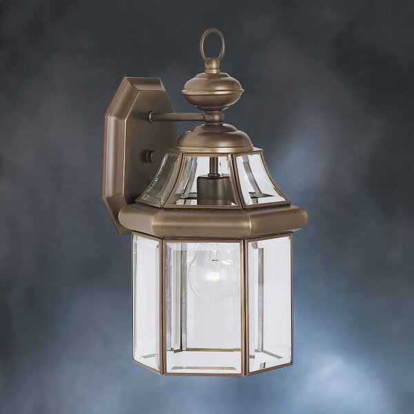 Janette Embassy Row 1-Light Outdoor Wall Lantern by Darby Home Co