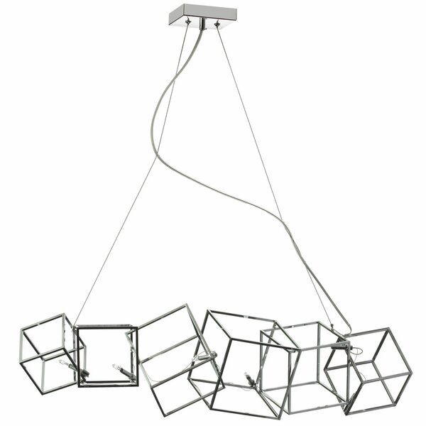 Cubo 6-Light Geometric Chandelier by Radionic Hi Tech
