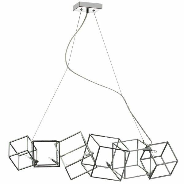 Cubo 6-Light Geometric Chandelier by Radionic Hi Tech
