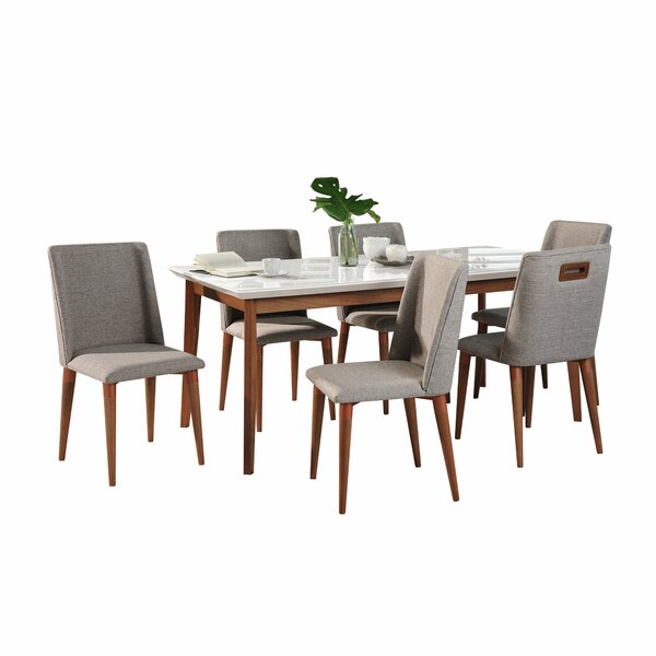 Tedeschi 7 Piece Solid Wood Dining Set by Union Rustic