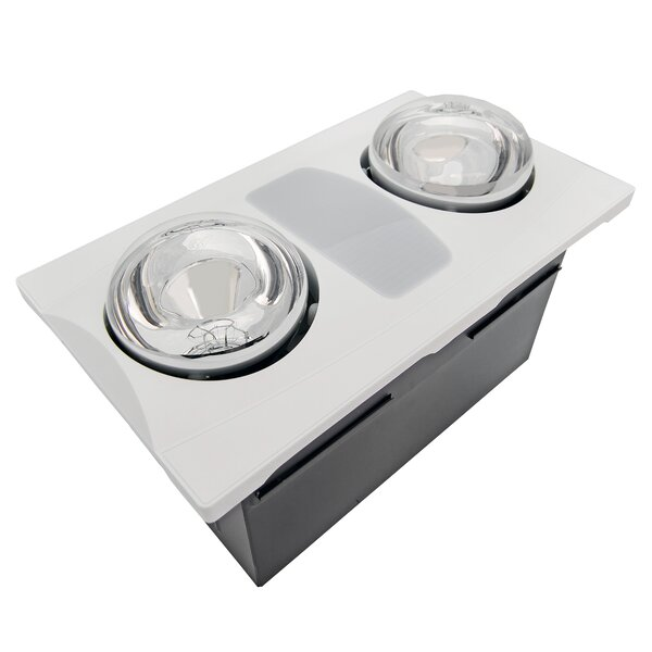 80 CFM Bathroom Fan with Heater and Light by Aero Pure