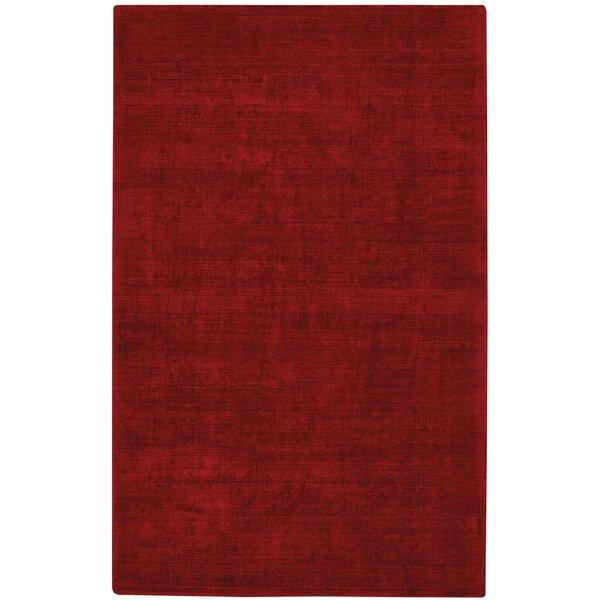 Abbotsfield Hand Tufted Crimson Area Rug by Corrigan Studio