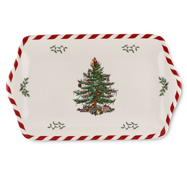 Christmas Tree Peppermint Platter by Spode