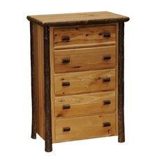 Hickory 5 Drawer Chest by Fireside Lodge