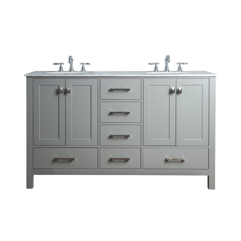 Luz 60 Double Sink Bathroom Vanity Set Reviews Birch Lane