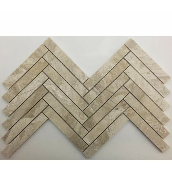 Herringbone Honed 1 x 6 Mosaic Tile in Karya Royal by Ephesus Stones