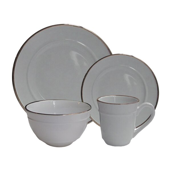 Lucienne 16 Piece Dinnerware Set, Service for 4 by Elle Decor