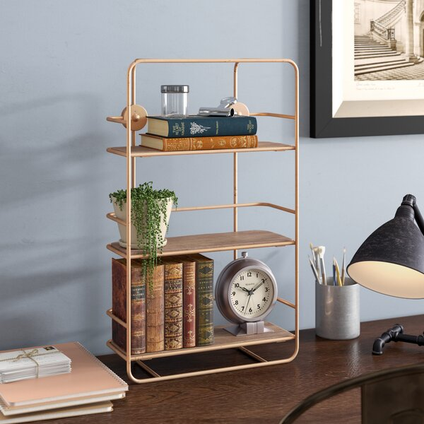 Darci Stairs Etagere Bookcase by Williston Forge