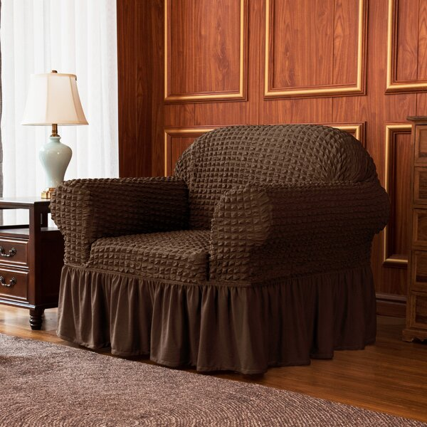 Ruffle Skirt Country Style Box Cushion Armchair Slipcover By Winston Porter