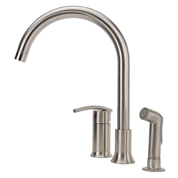 Vincennes Single Handle Kitchen Faucet with Side Spray by Fontaine by Italia