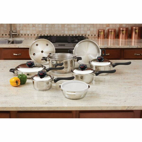 15 Piece Stainless Steel Cookware Set by Chef's Secret