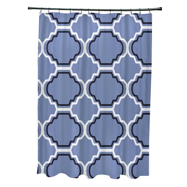 Road to Morocco Geometric Print Shower Curtain by e by design