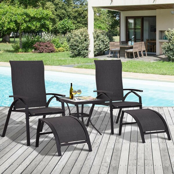 Williams Sun Lounger Set With Table By Winston Porter