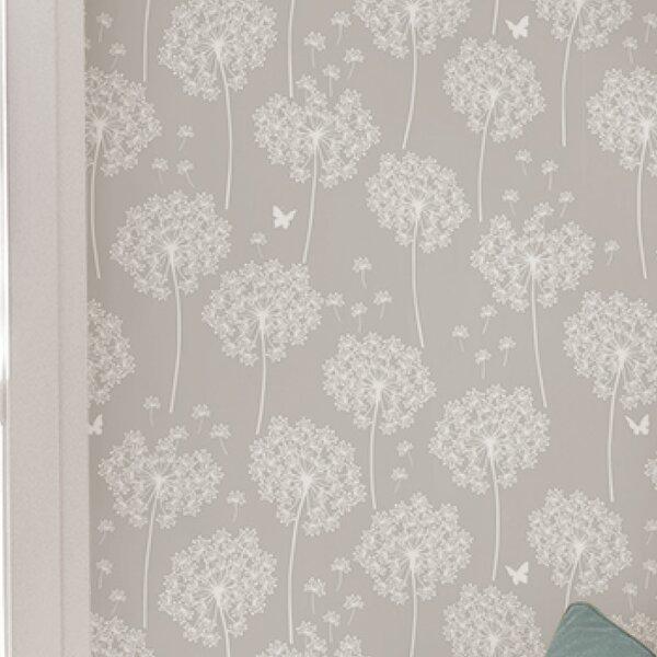 Dandelion 18 x 20.5 Grey Wallpaper Roll by WallPops!