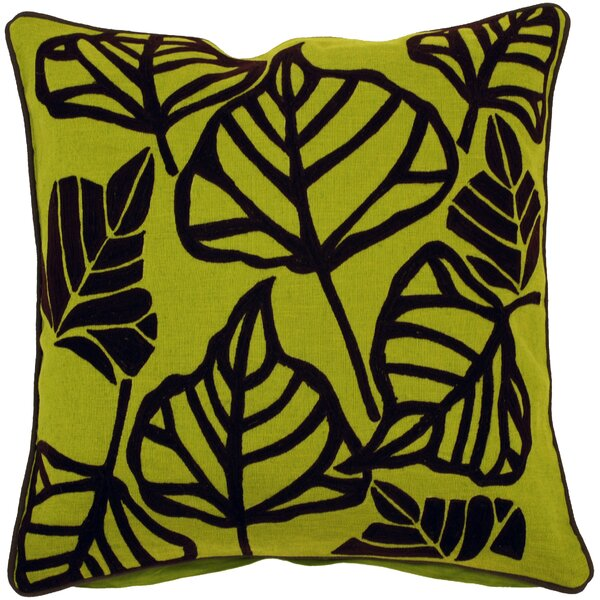 Rosier Leaves Throw Pillow by Red Barrel Studio
