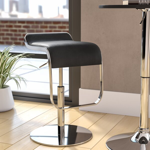 Crites Adjustable Height Swivel Bar Stool By Wade Logan