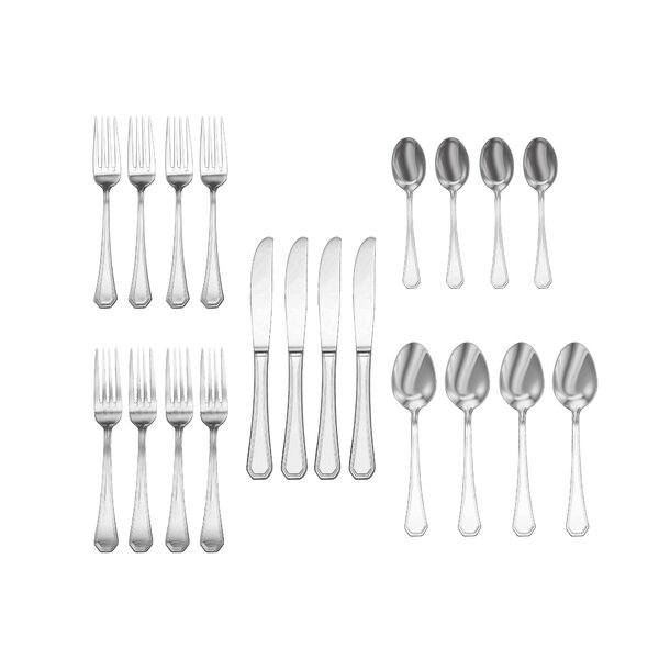 Telscombe 20-Piece 18/10 Stainless Steel Flatware Set by Charlton Home