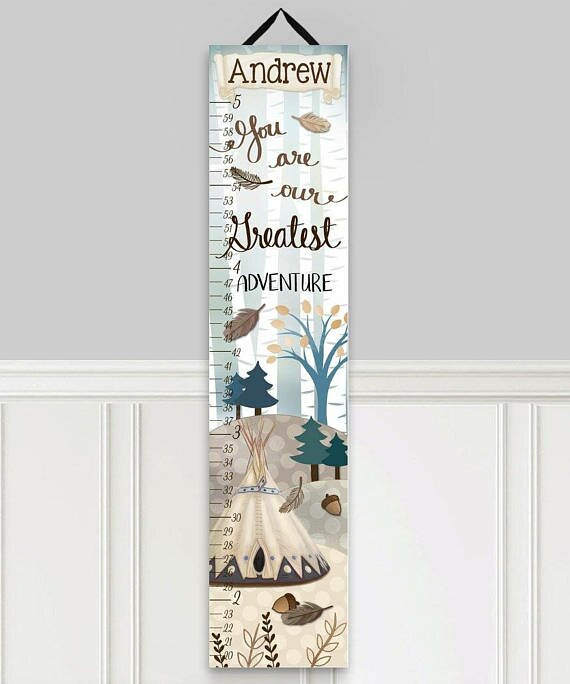 Toad and lily adventure personalized growth chart wayfair
