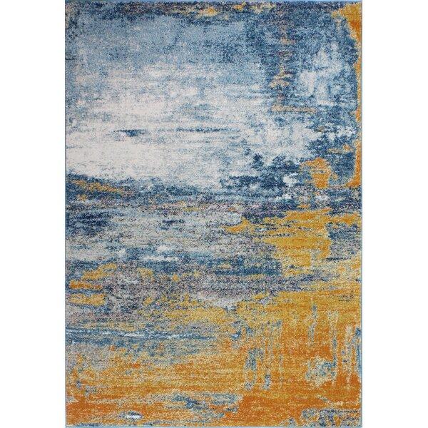 Heilman Blue/Tangerine Area Rug by Wrought Studio
