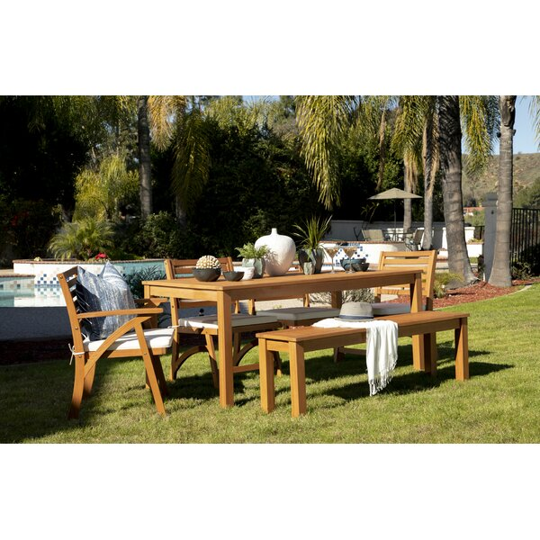 Aryanna 6 Piece Dining Set with Cushions by Rosecliff Heights