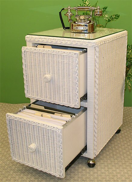 2-Drawer Mobile Vertical File by Wicker Warehouse