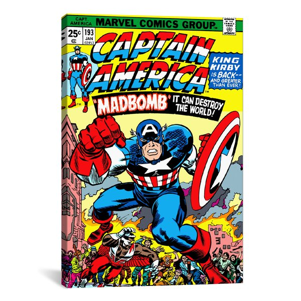 Marvel Comics Captain America Issue Cover Graphic Art on Wrapped Canvas by iCanvas